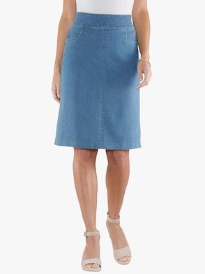 Džínová sukně - bělená modrá