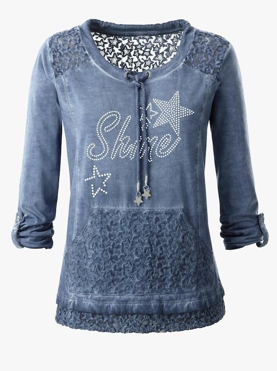 Shirt - jeansblau