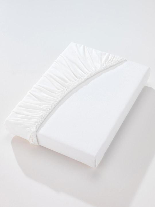 Biberna Spannbetttuch - weiß