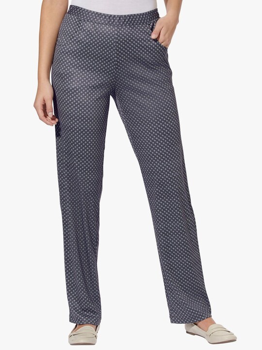 Jersey pantalon - zwart geruit