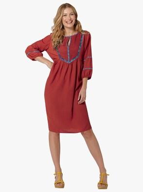Kleid - rostrot
