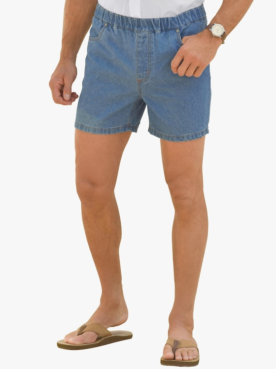 Jeans-Shorts - blue-bleached