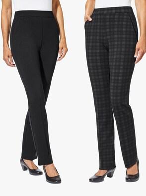 Džersejové nohavice - Čierna + čierna - Skontrolovať