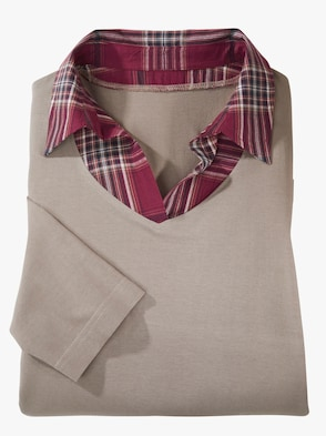 2-in-1-Shirt - taupe