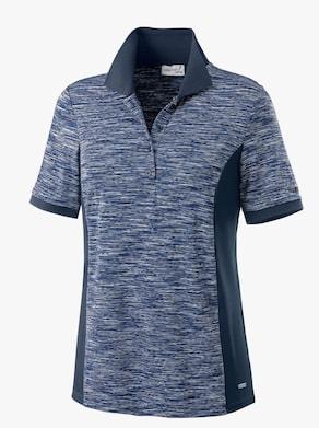 Shirt - marine-weiß-gemustert
