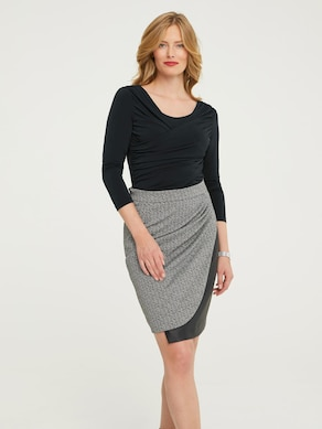 Ashley Brooke Shirt - schwarz