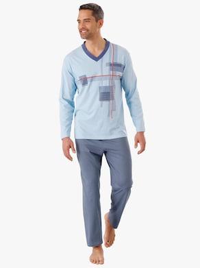 Pyjama - lichtblauw/marine