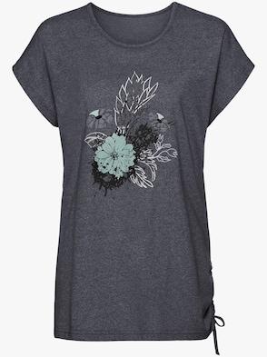 Shirt - blau-meliert