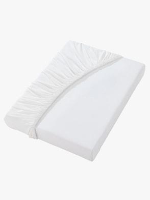 Spannbetttuch - weiß