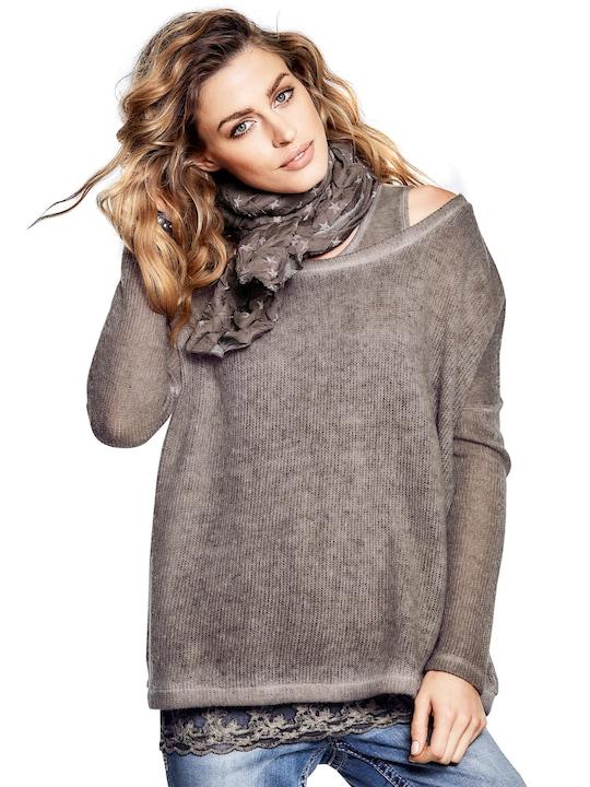 Linea Tesini Shirts met ronde hals - zand
