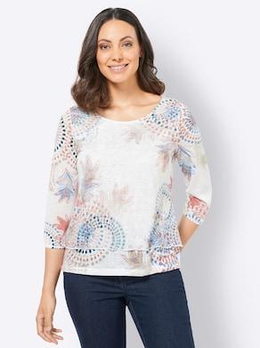 Shirt - rosenholz-bedruckt