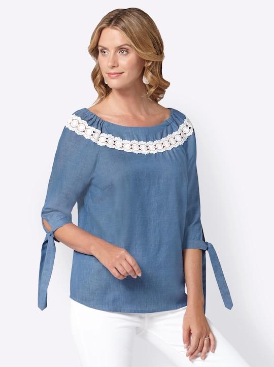 Blouse - jeansblauw