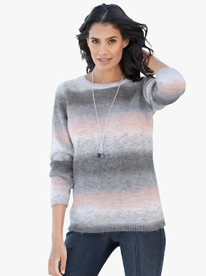 Pullover - grau-rosé