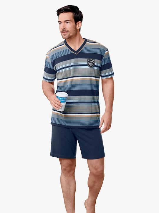 KINGsCLUB Krátké pyžamo - námořnická modrá-modrá
