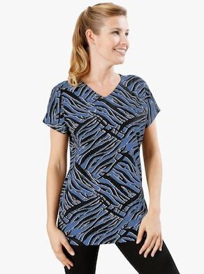 Lang shirt - korenbloem gedessineerd