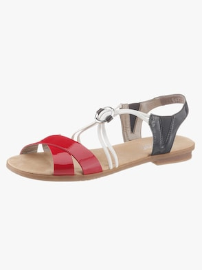 Sandale - rot-dunkelbl