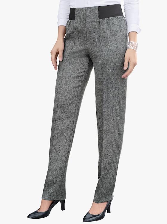 Kalhoty - šedá-černá-vzor