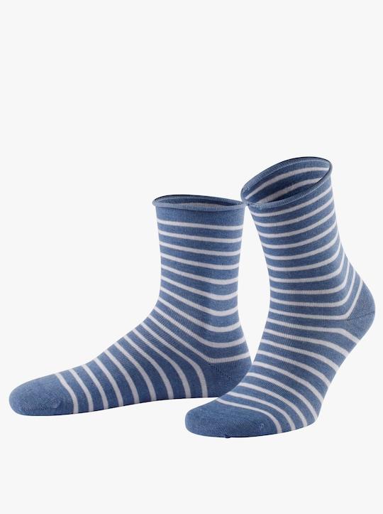 wäschepur Dámské ponožky - džínová modrá-melír