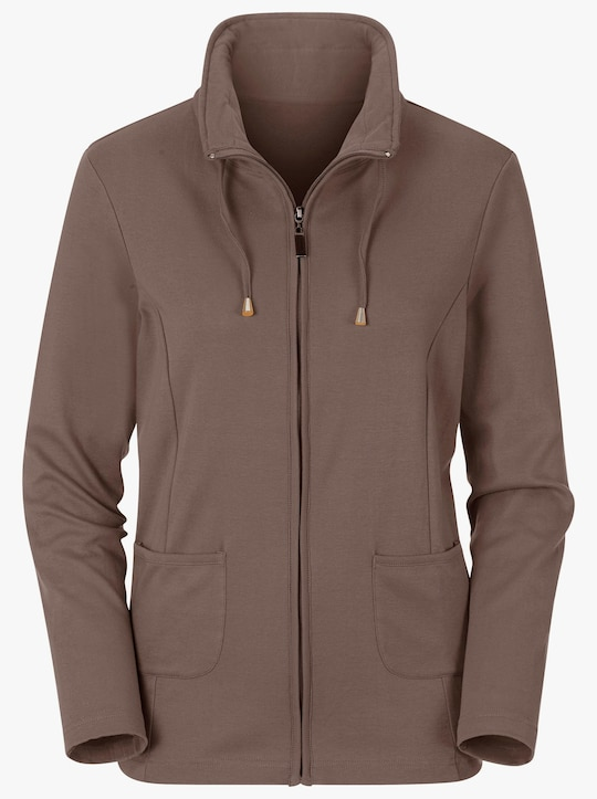 Collection L Shirtjacke - taupe