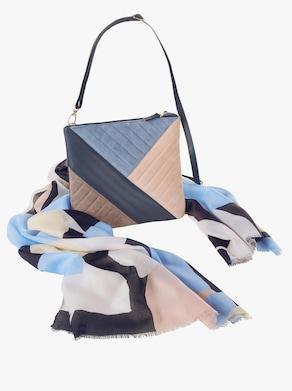Tasche + Schal - bleu