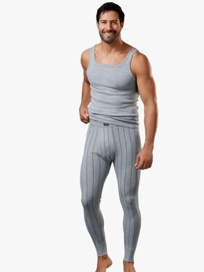 Unterhemd - grau-geringelt