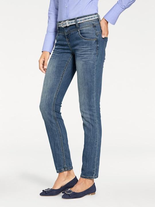 Linea Tesini Skinny-Jeans - bleached