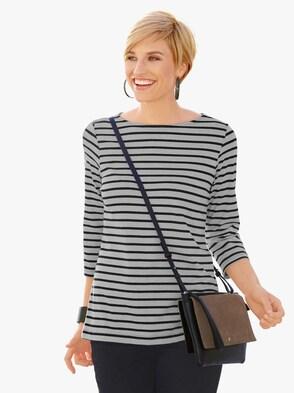 Shirt - grau-gestreift