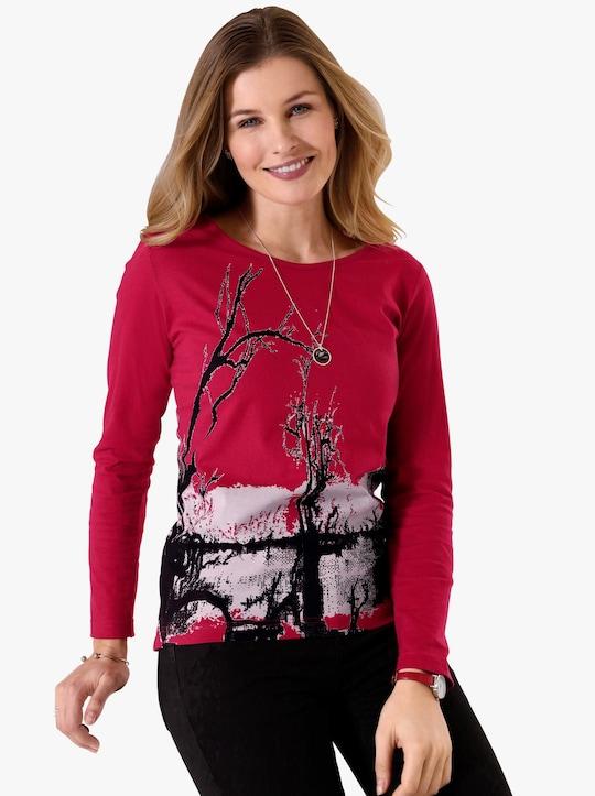 Shirt - rot-gemustert