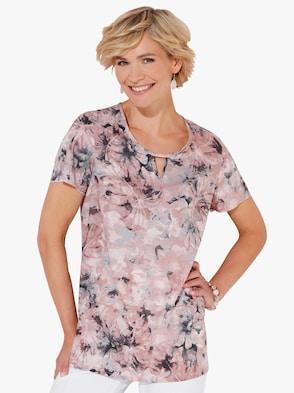 Bluse - grau-rosé