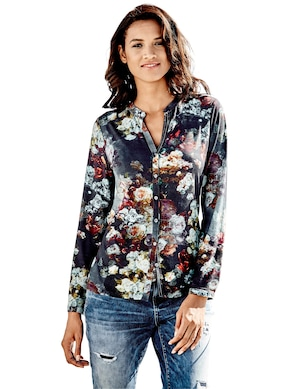 Linea Tesini Shirtbluse - dunkelblau