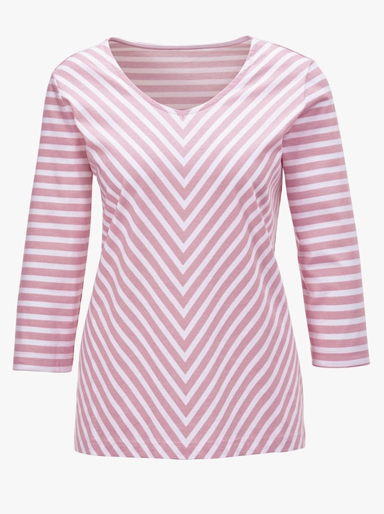 Shirt - roze/wit