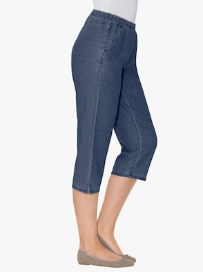 Capri-Jeans - blue-stone-washed