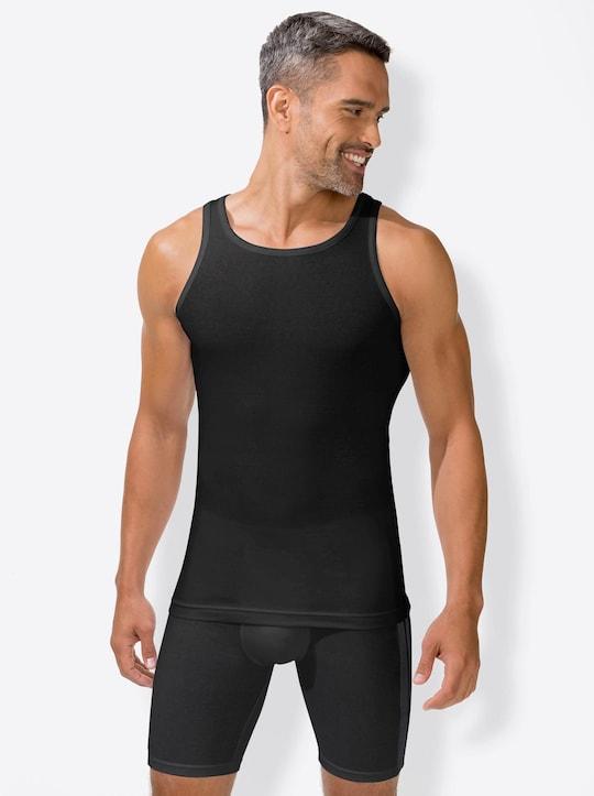 wäschepur Unterhemd - schwarz