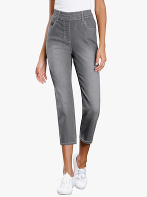 3/4-Jeans - grey-denim