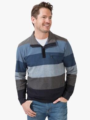 Sweatshirt - blau-marine-gestreift