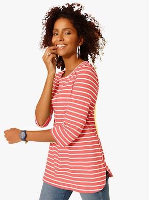 Longshirt - hummer-geringelt