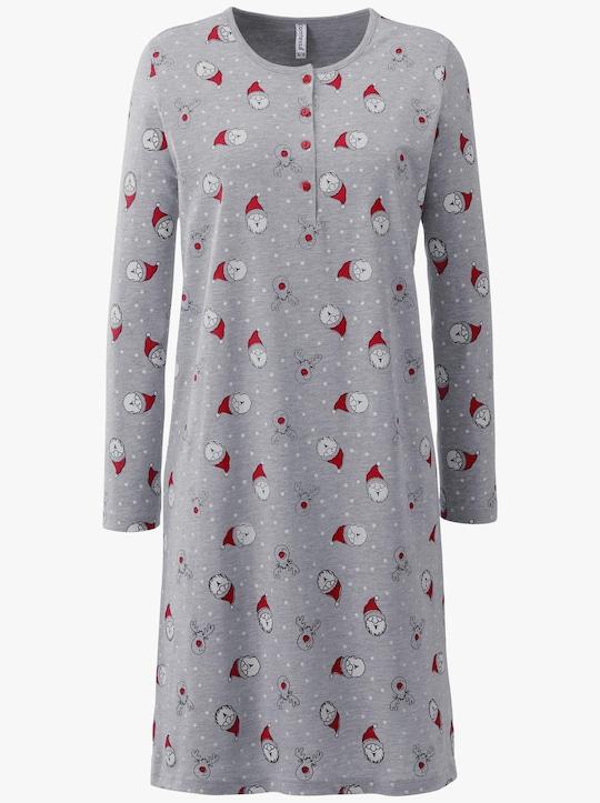 wäschepur Sleepshirt - grau-meliert