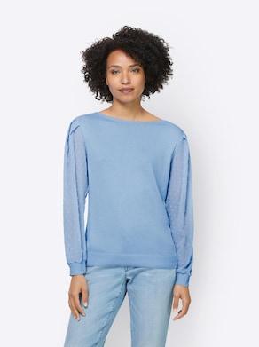 Linea Tesini Pullover - eisblau
