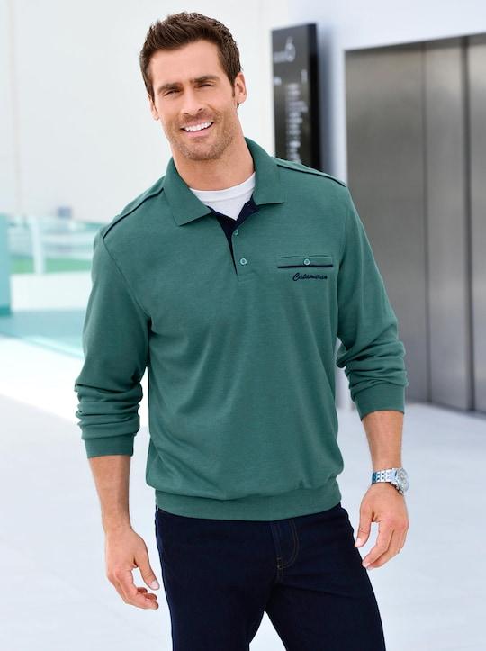 Catamaran Sweatshirt - smaragdgrün