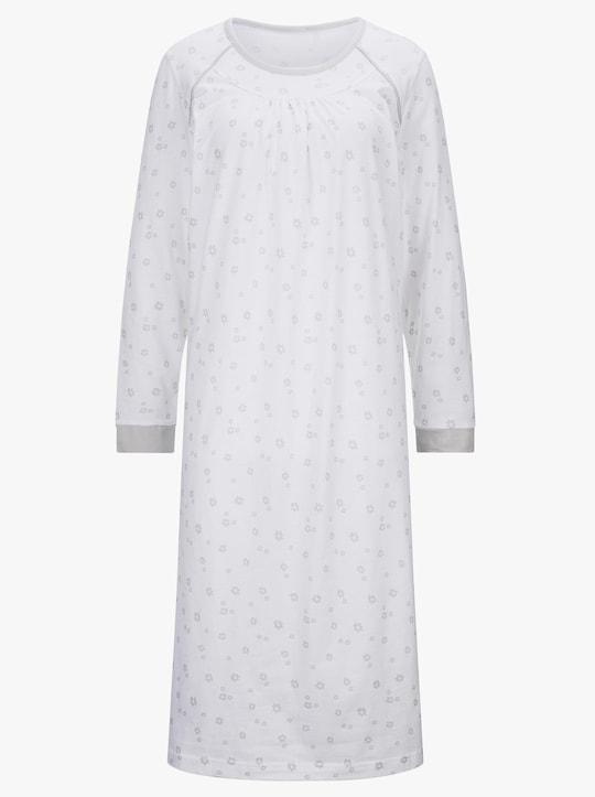 wäschepur Nachthemden - hellgrau-bedruckt + hellrosé-bedruckt