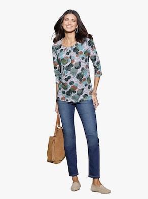 Lang shirt - ecru geprint