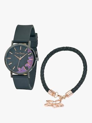 Armbanduhr und Armband - schwarz