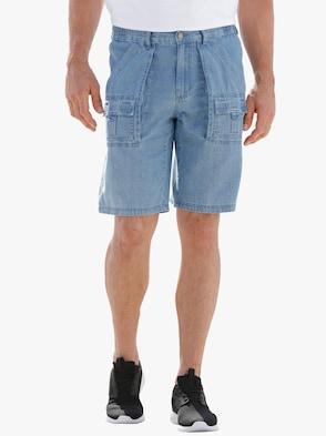 Jeans-Bermudas - blue-bleached