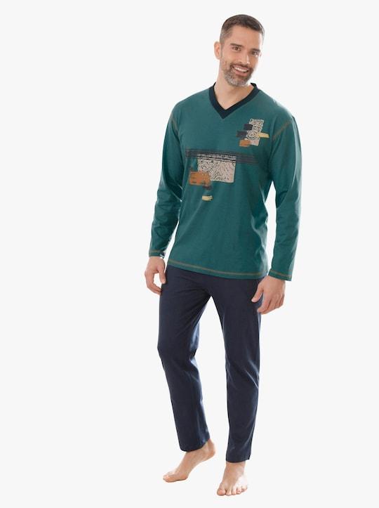 Top Ten Schlafanzug - grün-marine
