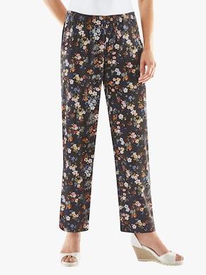 Kalhoty - námořnická-květovaná