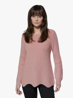Merinowoll-Pullover - rosé