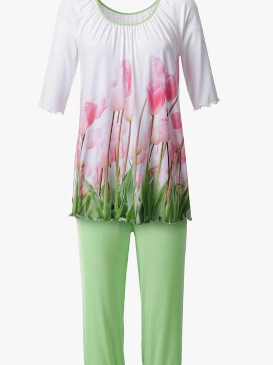 wäschepur Schlafanzug - weiß-bedruckt