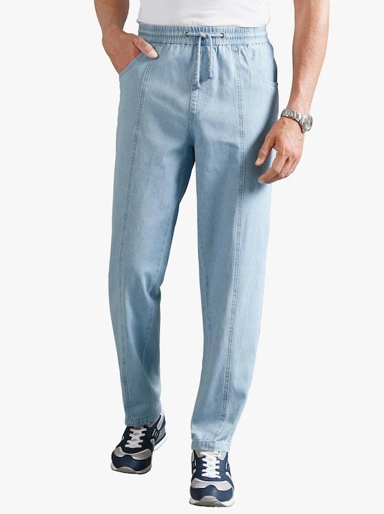 Pohodlné džíny - bělená modrá