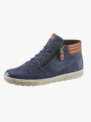 Schnürstiefelette - jeansblau