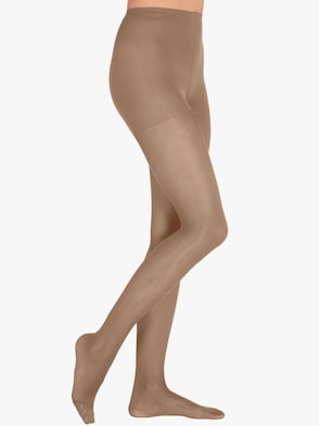Sťahovacie pančuchové nohavice - jemná hnedá